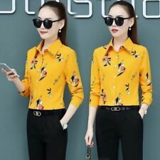 Floral Blouse Office Stylish Top Blouses Elegant Women Shirt Casual Girl's