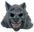 Wolf Head Mask Killer Werewolf Fangs Halloween Wolfman Party Costume Cosplay EUC