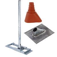 PremiumX DELUXE X90-60 SAT Dach Halterung Mast 90cm Sparrenhalter Blei Abdeckung