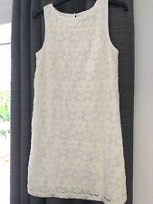 "Topshop Ladies Cream Bodycon Sleeveless Dress Size 8 L 31"" Lined"