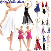 Lyrical Womens Girls Ballet Dance Dress Contemporary Leotard Performance Costume