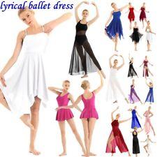 Lyrical Womens Girls Ballet Dance Dress Contemporary Leotard Performance Costume