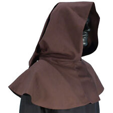 Medieval Brown Hood, Knight, Archer, Elven, Monk, LARP, Cosplay, Garb, SCA,