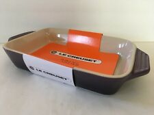 Cassis Purple Le Creuset Rectangular Baking Dish Stoneware 10 1/4 Inch New
