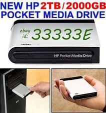 NEW HP 2TB _ 2000GB POCKET MEDIA DRIVE USB EXTERNAL 2 YEAR WARRANTY MSRP  $899+