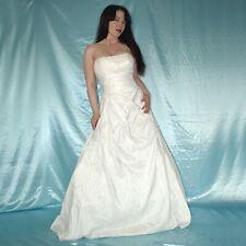 Sans Bretelles Satin Robe de Mariée Avec Traîne S (36) Ivoire Bal