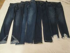 Lot of 4 women's American Eagle stretch blue jeans - all size 4 - all pre-owned