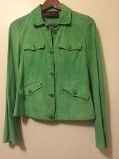 Loro Piana Green Suede 42 Jacket Coat Leather 6