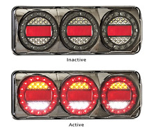 2 x LED COMBO LIGHTS TRUCK TRAILER CARAVAN FLOAT MAXILAMP - C3XRW MAXILAMPC3XRW