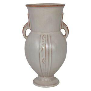 Roseville Pottery Moderne 1936 White Art Deco Vase 794-7