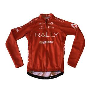 Men's 2018 Borah Rally Pro Cycling LS Jersey, Orange, Size Small EUC