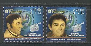 EL SALVADOR 2006, ELECTIONS, BALLOTS, POLITICIANS. Scott 1639-1640, MNH