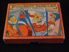 Ancien jeu salon cartes sept 7 familles en boîte d'origine 30/40 Bobinette