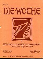 DIE WOCHE 1909 Heft 21: Die Fortschritte der Photographie