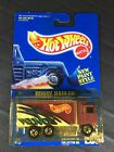 HOT WHEELS 1991 HIWAY HAULER Delivery Truck #238 Purple Blue Card Malaysia MOC