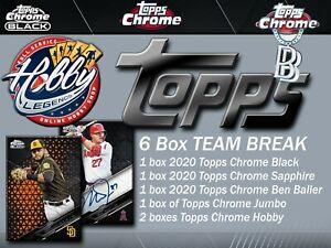 TORONTO BLUE JAYS 2020 Topps Chrome BLACK/SAPPHIRE/BALLER 6 Box TEAM Break #5