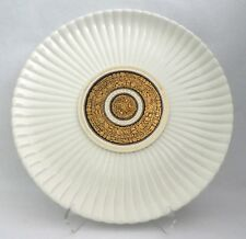 "ERNEST SOHN Platter Mid Century 14"" Serving PLATE White Ribbed Signed"