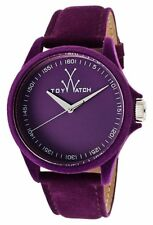 ToyWatch Company Sartorial Only Time Violet Purple Velvet Soft Wrist Watch NEW