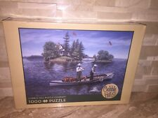 SHORE LUNCH ON THE LINE 1000 PIECE FISHING THEMED JIGSAW PUZZLE