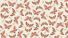 Makower Fabric Japanese Garden Butterflies Red - Per 1/4 Metre