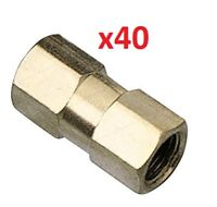 40 x Brake Pipe Nuts 2 way Female Connector Joiner Joint 10mm x 1mm 3/16 Pipe