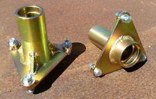 2 x Steel Spindle Mandrel Housing 3 bolt for Ride-on Mower
