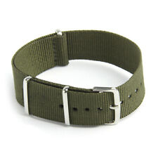 Watch Strap Band Military Army Nylon Canvas Divers G10 Mens Colour:Army Gre B7Q6