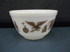 Pyrex Vintage Americana Mixing Bowl 1 1/2 PT #401 Country, Rooster, Eagle