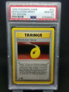PSA 10 1st ed Devolution Spray 72/102 Base Set Pokemon TCG WOTC Gem Mint Low Pop
