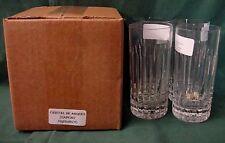 "Cristal D""Arques DIAMONT Highball Tumblers SET OF THREE Mint in BOX Mult. Avail"