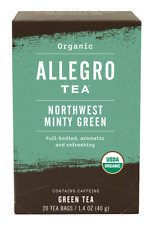 Allegro Organic Northwest Minty Green Tea 20 Tea Bags 1.4 oz