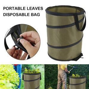 Garden Pop Up Heavy Duty Leaf Waste Bag Reusable Gardening Weeding Bin 37.8L