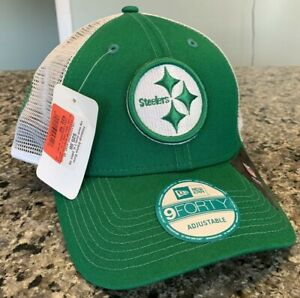 Pittsburgh Steelers Hat Cap Snapback New Era 9Forty St Patricks Day NWT