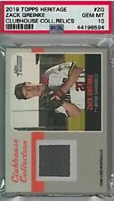 2019 Topps Heritage Zack Greinke #ZG Clubhouse Collection Relics PSA 10 GEM MINT