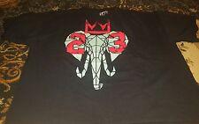 Hard Ten 10 4XLarge 4XL Mens Black Elephant Crown 23 Short Sleeve Lebron