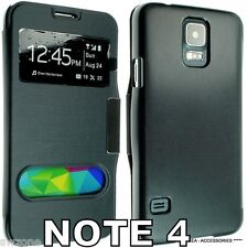 SAMSUNG Galaxy Nota 4 N910 Pelle Custodia Cover Flip Custodia Dual Window sm-n910f