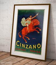 🍷 Poster Vintage Cappiello Cinzano Vermout Stampa Fine Art di Pregio 🖌🍾
