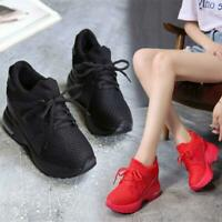 Womens Breathable Fashion Wedge Sneakers Platform Sport Ankle Boots Casual Shoes