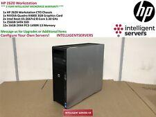 HP Z620 Workstation 2x Xeon E5-2667 V2 3.30GHz 192GB DDR3 256GB SSD Quadro K4000