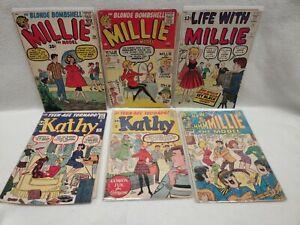 LIFE WITH MILLIE THE MODEL #102 105 KATHY 15 17 Atlas 1961 Stan Lee GGA