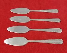 4 Solid Petite Servers ~ Camelot Harvest American Silver Co Silverplate Flatware