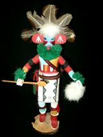 VINTAGE Native American Navajo Kachinas Doll - SILENT WARRIOR - Signed -  11""