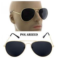 Gold Polarized Aviator Men's Glasses Outdoor Sports Eyewear Driving Sunglasses
