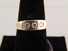 Men's Diamond Ring .36 CT G/SI 14K YG Estate Designer Dice Pinky Ring