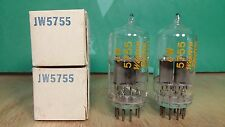 Pair of Western Electric JW 5755 420A NOS NIB Clear Top Vacuum Tubes -6% matched