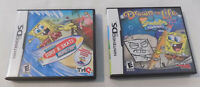 2 Nintendo DS Game Cartridges Spongebob Surf & Skate and Drawn to Life with Case