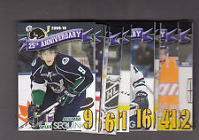 PLYMOUTH WHALERS 2014-15 25TH ANNIVERSARY 32 CARD SET W/ SEGUIN +