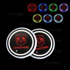 LED Car Cup Bottle Holder Pad Mat Dodge Auto Atmosphere Lights Decoration
