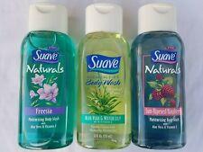 3 Suave Body Wash Aloe Vera & Water Lily, Freesia & Sun-Ripened Raspberry 12 fl