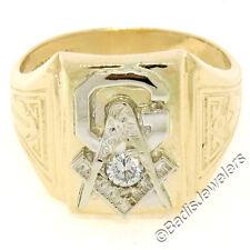 Herren Vintage Stiefeletten DASON 14k Gelbgold 0.12ct Karat rund Diamant